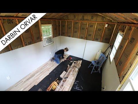 Building My Dream Shop: Installing Hardwood Flooring