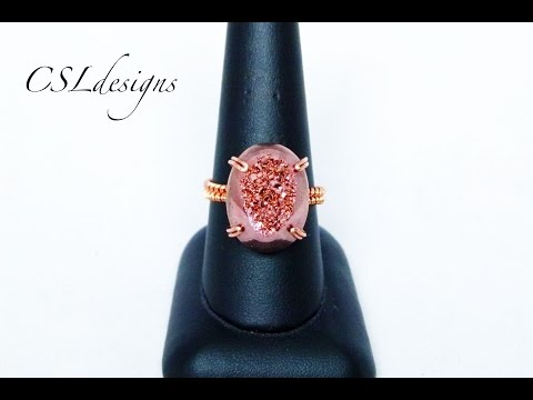 Prong set wirework cabochon ring