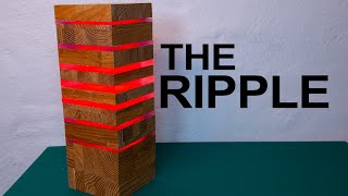 Modern and stylish lamp made of wood and acrylic - The Ripple