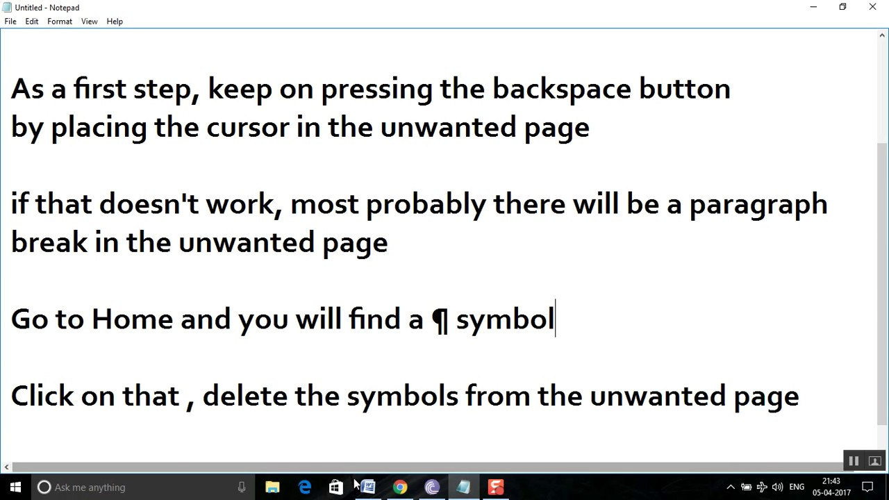 Delete A Page In Word 2010