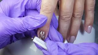 Маникюр кошачий глаз гелем Artex  Простой дизайн ногтей гель лаком кошачий глаз фантом
