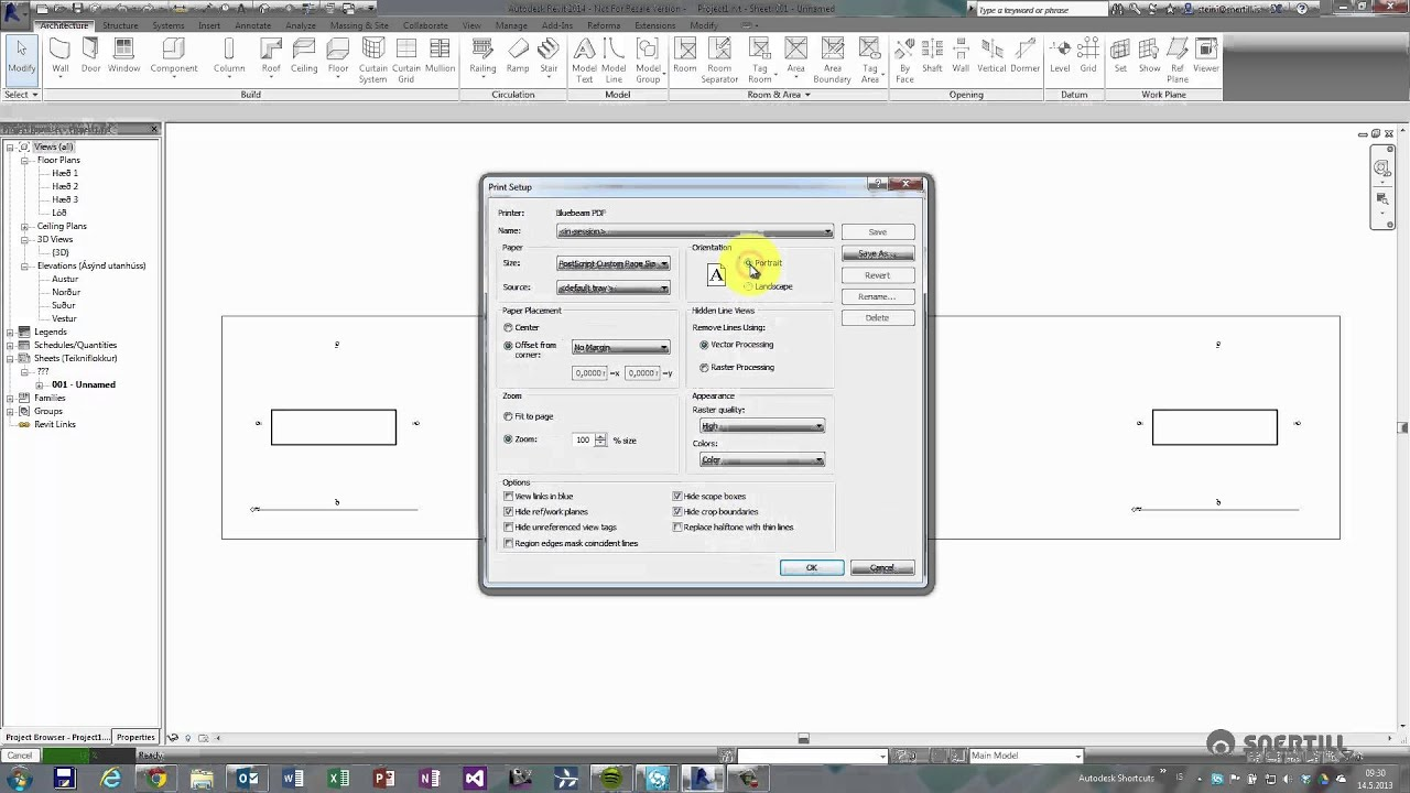 Revit 2014 - Create Custom PDF Sheet Size