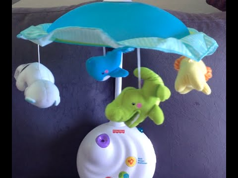 Unboxing Fisher Price 2 In 1 Projection Mobile Precious Planet