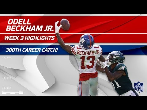 Odell Beckham's 300th Career Catch & Ridiculous One-Handed TD Grab! | Can't-Miss Play | NFL Wk 3