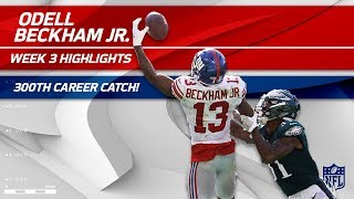 Odell Beckham's 300th Career Catch & Ridiculous One-Handed TD Grab! | Can't-Miss Play | NFL Wk 3 thumbnail