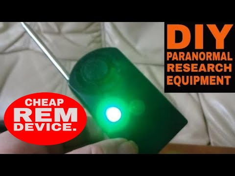 DIY REM DEVICE MADE FROM DOOR HANDLE ALARM. LIFE AFTERLIFE TV PRODUCTIONS, GHOST HUNTING EQUIPMENT.