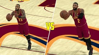 WHO CAN MAKE A HALF COURT SHOT FIRST ON THE CAVALIERS? NBA 2K17 GAMEPLAY!
