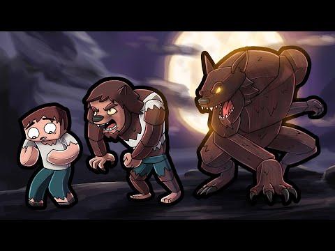 Playing MINECRAFT as a WEREWOLF! (Werewolf Transformation)