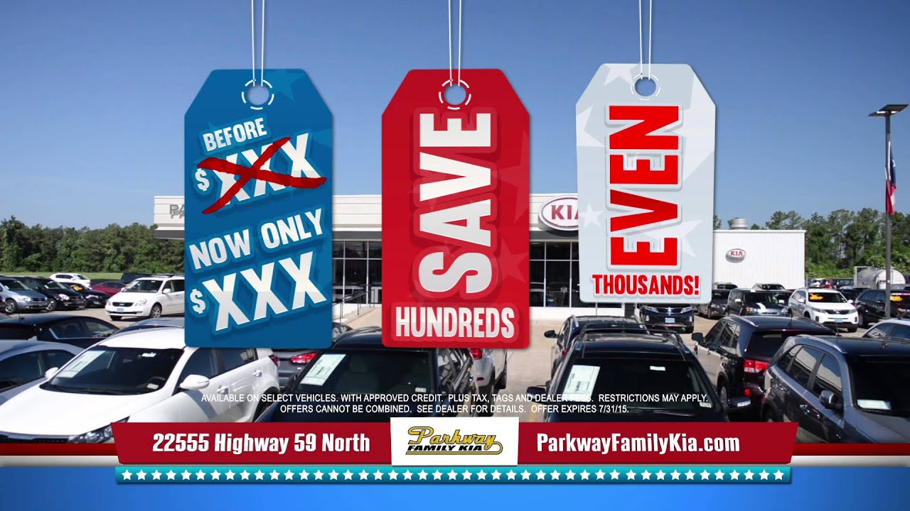 Red White And Blue Auto Sales >> Parkway Kia Red White Blue Sale Kia Dealer Tv Commercial