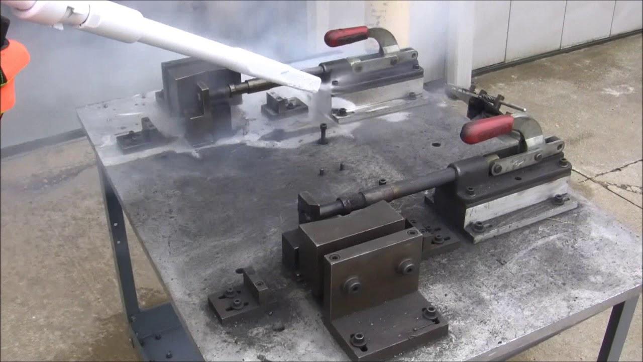 Dry Ice Blasting Demonstration - YouTube