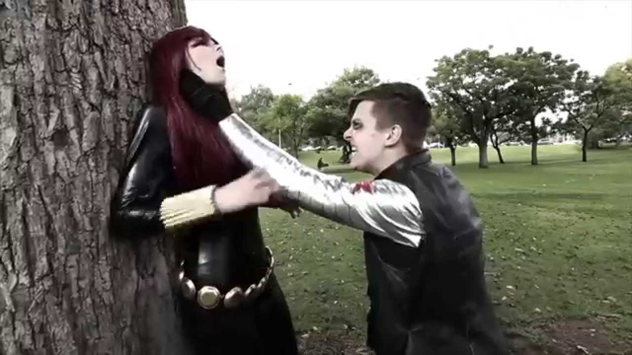 Level Up Cosplay Black Widow Vs The Winter Soldier YouTube