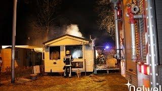 14-01-2014 Middelbrand stacaravan Hoge Bijsselse-Pad Nunspeet