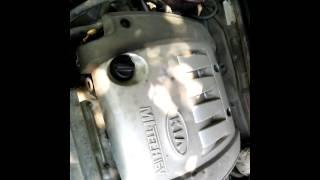 KIA spectra посторонний шум в двигателе