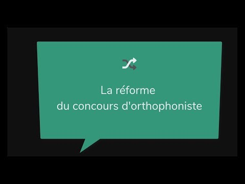Concours Orthophoniste -
