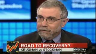 Stephanopoulos  David Stockman Paul Krugman