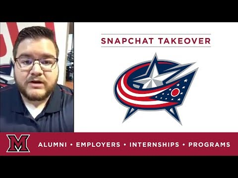 Sam's Marketing Internship for the Columbus Blue Jackets in Columbus, OH
