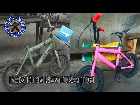 restoration-old-kids-bicycle-dirty-/-restore-old-rusty-baby-bike