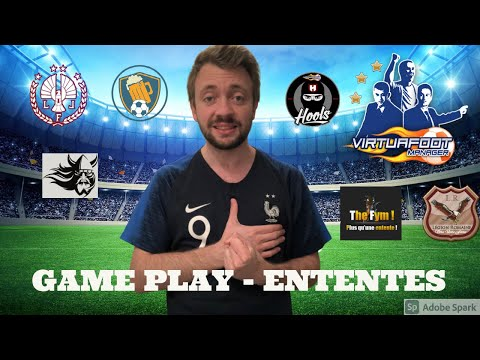 EP2  Virtuafoot Manager  Game Play Interentente  Presentation D1 Ententes ! 2021