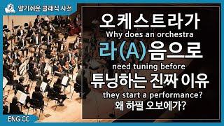 오케스트라가 공연직전 A(라)음으로 튜닝하는 진짜 이유!! (ENG CC)