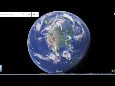 แผนที่โลก ดาวเทียม โดย Google Earth