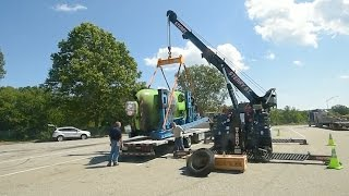 Deepsea Challenger submersible catches fire on Interstate 95