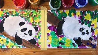ПАНДА. Рисование для малышей.рисовать легко. Рисуем с Илюшей.