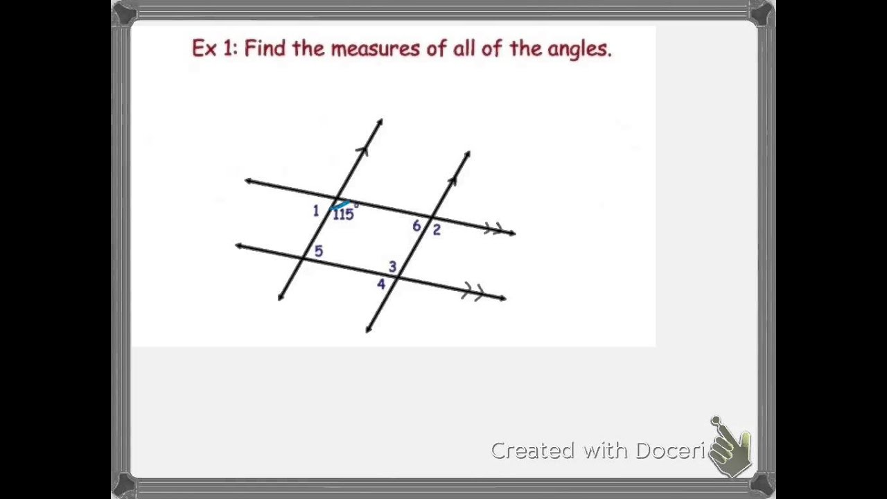 3-2 Properties of Parallel Lines - YouTube