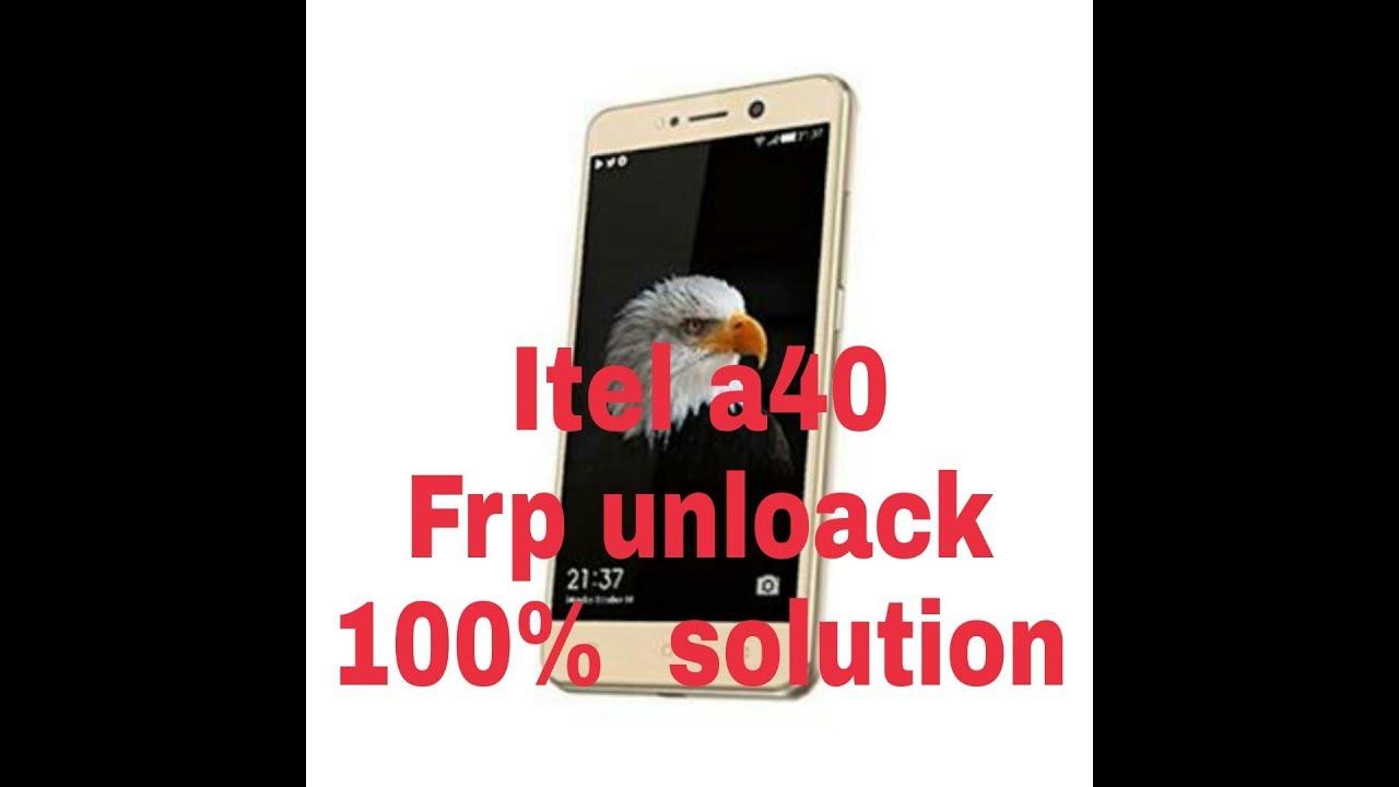 itel a40 frp unlock