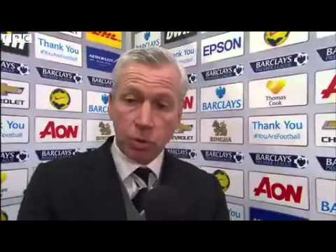 Manchester United 0-1 Newcastle - Alan Pardew Post Match Interview (07-12-13)