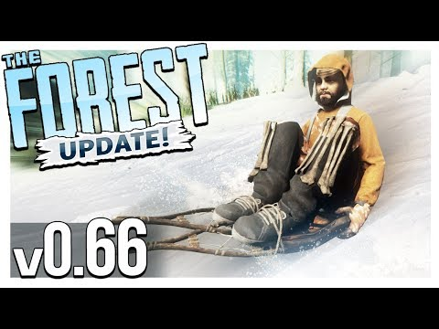 TURTLE SHELL SLED, LOG ZIPLINE & NEW SURVIVAL BOOK! | The Forest Gameplay (Update  v0.66)