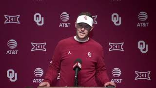 OU Football: Lincoln Riley talks about close win over TCU