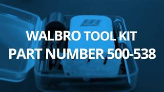 Walbro Introduces Upgraded Carburetor Repair Tool Kit Part # 500-538 at GIE Expo 2019