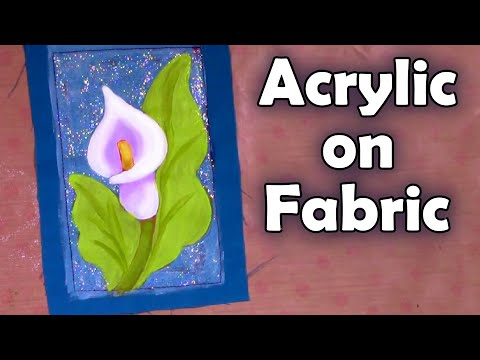 FABRIC ART Painting a calla lilly – botanical art –  Fabric art journal tutorial  – Traveling Book