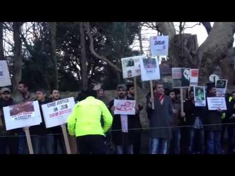 Protest outside Pakistan embassy Dublin