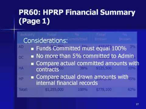 HPRP Webinar: IDIS Online: A Tool for HPRP Financial Management - 3/2011