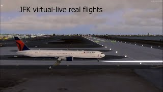 JFK Virtual airport Live real life flights departures-arrivals virtualised!!!