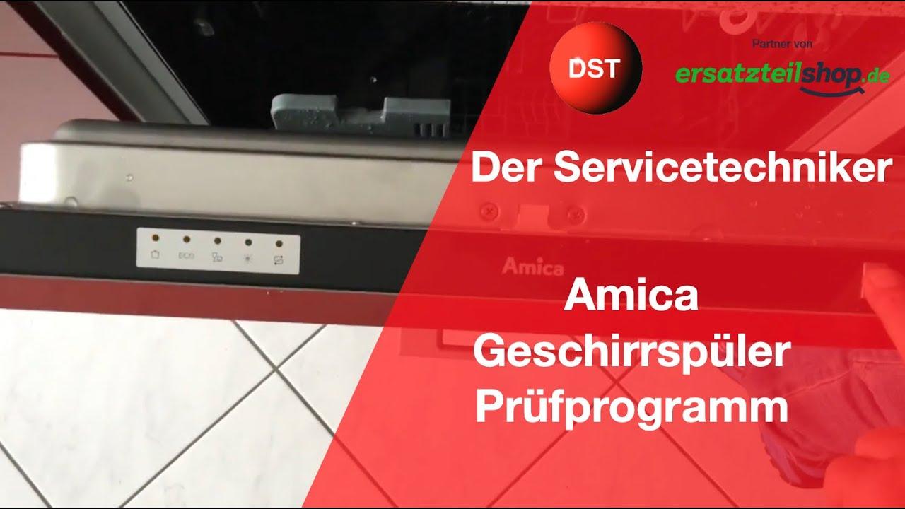 Amica Kühlschrank Fehler : Amica spülmaschine prüfprogramm und fehleranzeige youtube