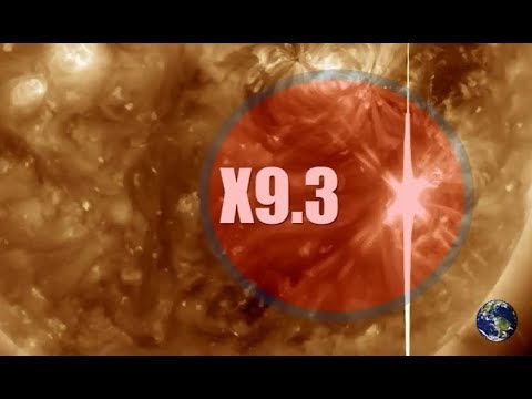 FLASH: X10 Solar Flare!!! - Earth Facing CME Arriving Now - Slow-Motion