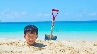 アハ体験ムービーno 11 砂に埋まってみた a ha experience i ve buried in the sand