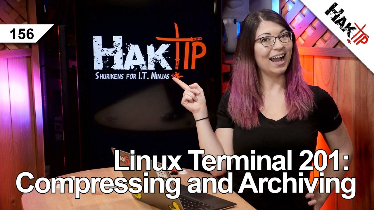 Linux Terminal 201: How To Use tar, gzip, bzip2, and zip - HakTip 156