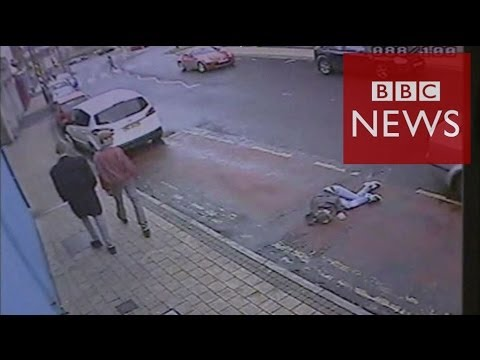 'I could've died' says woman left in bus lane - BBC News