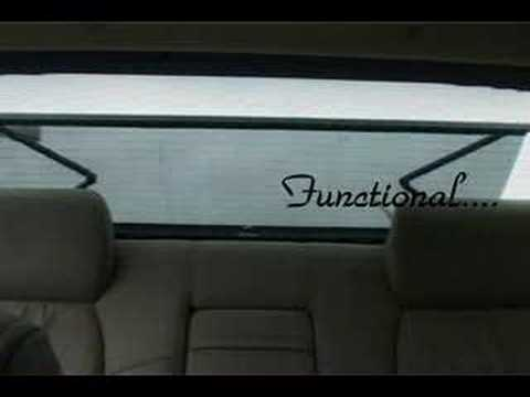 Power Rear Window Sun Shade Youtube