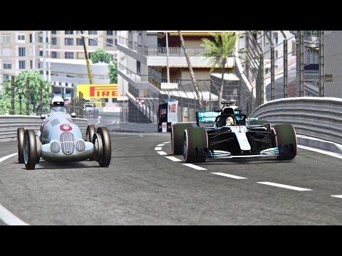 Mercedes F1 2018 vs Mercedes F1 1937 - Monaco
