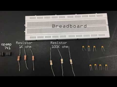 First order active low pass filter experiment using operational amplifier