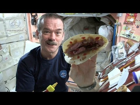 Astronaut Chris Hadfield and Chef Traci Des Jardins Make a Space Burrito