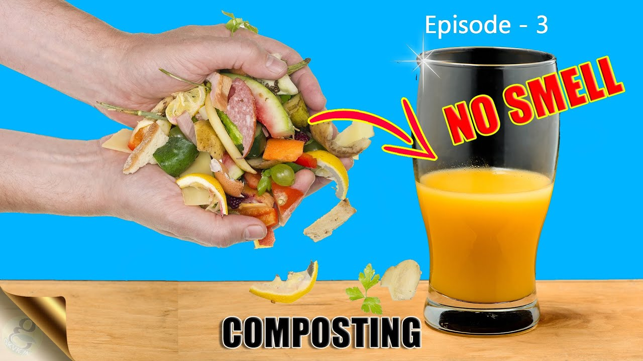 QUICKLY MAKE COMPOST AT HOME INDOORS IN 15 DAYS   BOKASHI COMPOSTING
