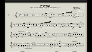 Calvin Harris Sam Smith Promisis Sheet music and Backing track for saxophone Syntheticsax cover.mp3