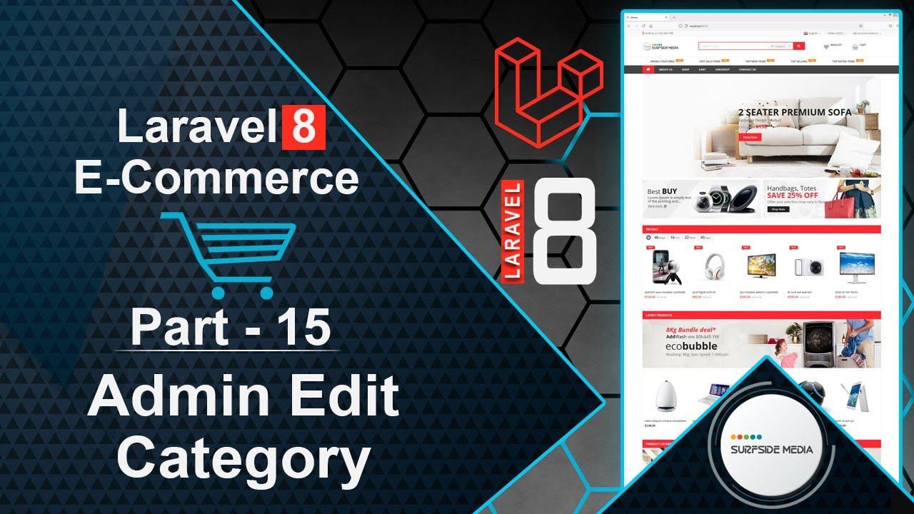 Laravel 8 E-Commerce - Admin Edit Category