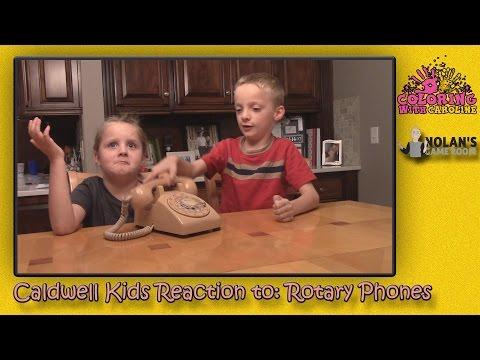Caldwell Kids Reaction To Rotary Telephone
