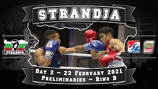 Ring B- 72nd International Boxing Tournament Strandja 2021 Day 2